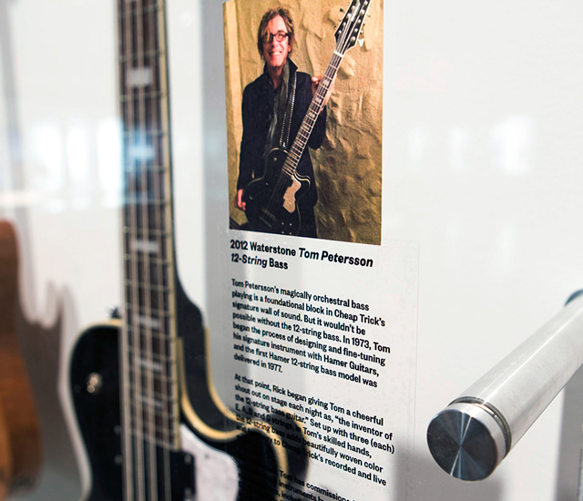 Newly added to the Rick's Picks exhibit, Tom Petersson's 2012 Waterstone 12-String Bass